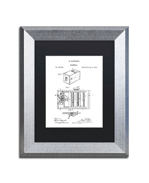 """Trademark Global Claire Doherty 'George Eastman Camera Patent White' Matted Framed Art - 11"""" x 14"""""""