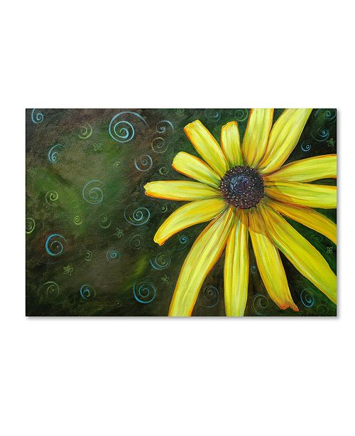 "Trademark Global Jennifer Redstreake 'Black Eyed Susan' Canvas Art - 12"" x 19"""