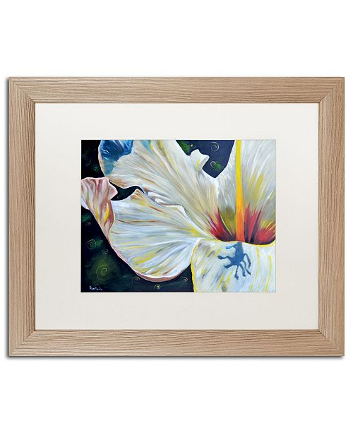 "Trademark Global Jennifer Redstreake 'Hibiscus' Matted Framed Art - 16"" x 20"""