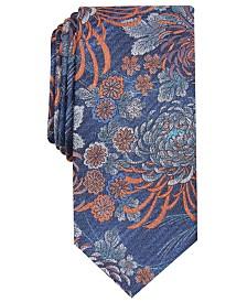 Bar III Men's Chrysanthemum Skinny Floral Tie, Created for Macy's