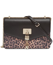 DKNY Elissa Leopard Shoulder Flap Bag, Created for Macy's