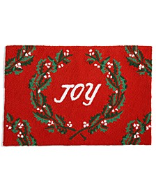 "Joy 20"" x 30"" Hooked Rug, Created for Macy's"