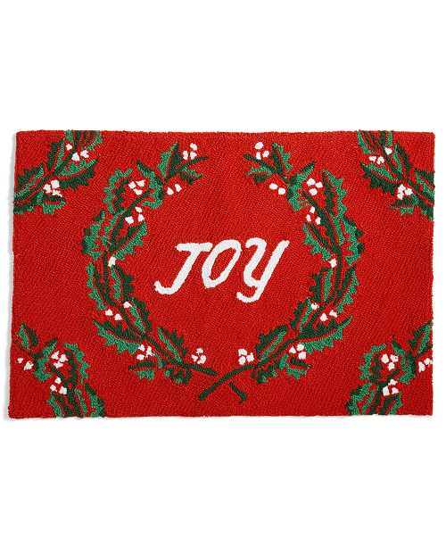 """Martha Stewart Collection Joy 20"""" x 30"""" Hooked Rug, Created for Macy's"""