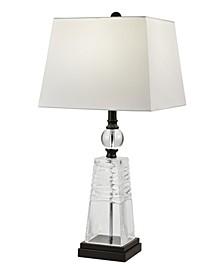 Caden 24% Lead Hand Cut Crystal Table Lamp