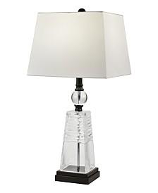Dale Tiffany Caden 24% Lead Hand Cut Crystal Table Lamp