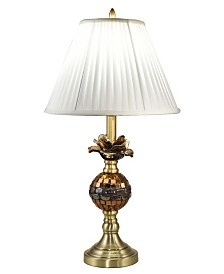 Dale Tiffany Rose Bloom Mosaic Art Glass Table Lamp
