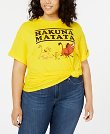 Mighty Fine Trendy Plus Size Cotton Hakuna Matata Graphic T-Shirt