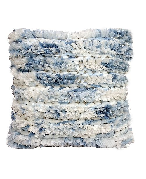 """Chicos Home Fluffy Decorative Throw Pillow 22"""" x 22"""" for Couch Handloom Woven"""