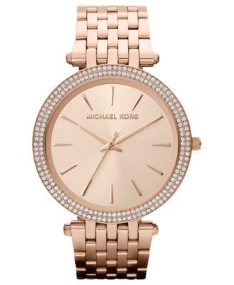 Michael Kors Womens Darci Rose GoldTone Stainless Steel Bracelet