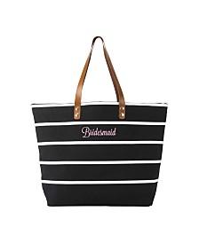 Cathy's Concepts Bridesmaid Striped Tote