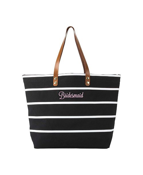 Cathy's Concepts Caboodles Bridesmaid Striped Tote