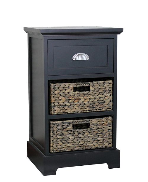 Gallerie Decor Newport One Drawer Two Basket Table