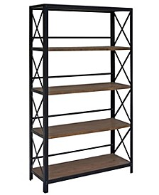Industrial Five Tier Bookshelf