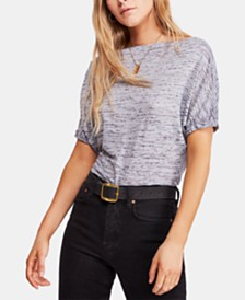 Free People Off-The-Shoulder Burnout T-Shirt