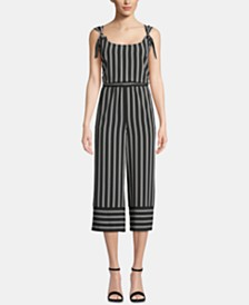 ECI Striped Low-Back Jumpsuit