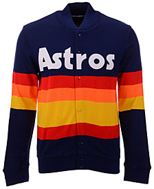 Mitchell & Ness Men's Houston Astros Authentic Sweater Jacket