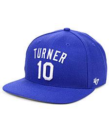 '47 Brand Justin Turner Los Angeles Dodgers Player Snapback Cap