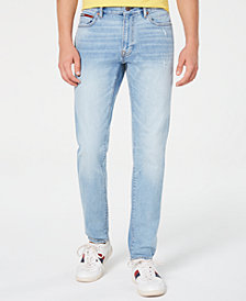 Tommy Hilfiger Denim Men's Marley Slim Tapered Fit Stretch Distressed Jeans