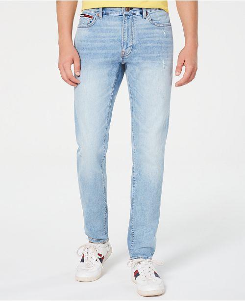 Tommy Hilfiger Men's Marley Slim Tapered Fit Stretch Distressed Jeans