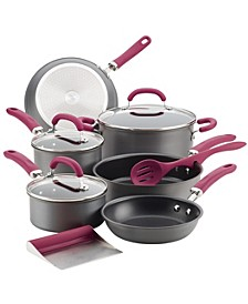 Create Delicious Hard-Anodized Aluminum 11-Pc. Nonstick Cookware Set