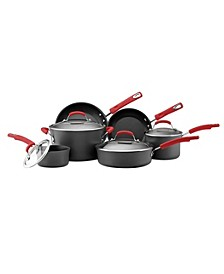 Hard-Anodized Nonstick 10-Pc. Cookware Set