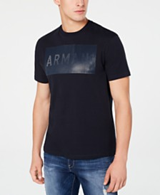 A|X Armani Exchange Men's Textured Logo Patch T-Shirt