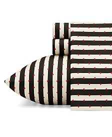 Betsey Johnson Wonderland Stripe Sheet Set, Twin XL