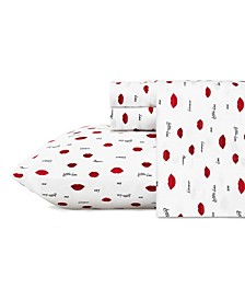 Love Lips Sheet Set, Twin XL