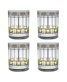 Frank Lloyd Wright Tree of Life Double Old Fashioned Glass - Set of 4