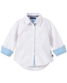 Tommy Hilfiger Baby Girls Cotton Striped Shirt