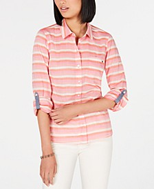 Cotton Striped Utility Shirt
