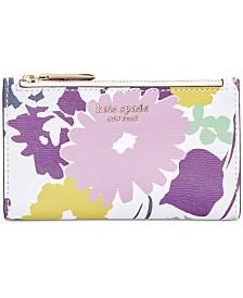 kate spade new york Sylvia Swing Flora Small Slim Bifold Wallet