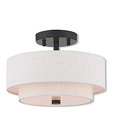 Claremont 2-Light Small Ceiling Mount