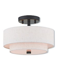 Livex Claremont 2-Light Small Ceiling Mount
