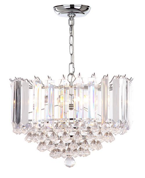"Safavieh Hampton 2 Light 16.5""D Glass Pendant"