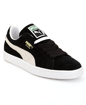 puma men's suede classic casual sneakers from finish line