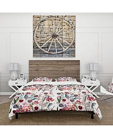 Designart 'Beautiful Floral Pattern With Spring Flowers' Cabin and Lodge Duvet Cover Set