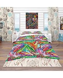 Designart 'Bright Texture' Southwestern Duvet Cover Set - King
