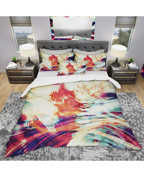 Design Art Designart 'Winds Of The World' Modern and Contemporary Duvet Cover Set - King