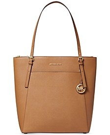 Voyager North South Leather Tote