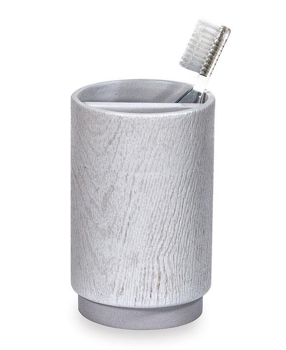 DKNY Grey Wood Toothbrush Holder