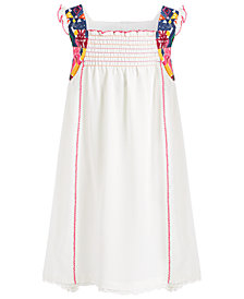 Bonnie Jean Little Girls Smocked High-Low Crepe Dress