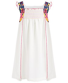 Bonnie Jean Little Girls Smocked High-Low Crepe Dress