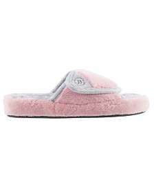 Isotoner Women's Microterry Pillowstep Spa Slide Slipper, Online Only