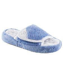 Isotoner Women's Microterry Pillowstep Slide Slipper, Online Only