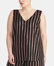 Trendy Plus Size Striped Tank Top