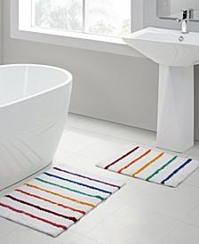 Rainbow Stripe 2-Pc. Bath Rug Set