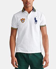 Polo Ralph Lauren Men's Custom Slim Fit Big Pony Mesh Polo Shirt