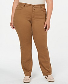 Plus Size Twill Lexington Pants, Created for Macy's