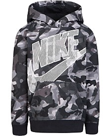 Nike Little Boys Camo-Print Futura Hoodie